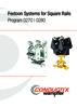 Festoon Systems for Square Rails Program 0270   0280