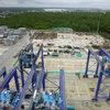 Großbaustelle in Kolumbien: Während der Installation der Schleifleitungssysteme und der E-RTG Modifizierung wurde zeitgleich der Terminal erweitert.