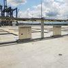 Die Einspeisemodule im Hafen Buenaventura für die Schleifleitungssysteme in der back-to-back Anordnung.