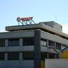 Neues Logo auf dem Conductix-Wampfler Firmengebäude in Weil am Rhein