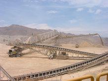 Kupfermine Gurtbandförderer (Absetzer/ Bandbrücke)