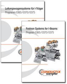 """Katalog """"Leitungswagensysteme für I-Träger"""" Programm 0365, 0370 und 0375"""