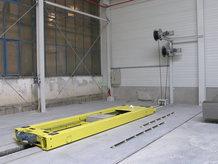 Verschiewagen in einer Betonfabrik