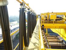 I-Träger Leitungswagensystem im Einsatz auf einem Prozesskran