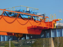 Overhead Bridge Crane outside a power plant