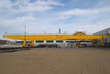 Hauptstromzuführung an einem Brückenkran [Schiffsbau]