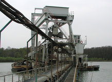 Dredger to remove sand