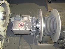 Prozesskran in einem Stahlwerk [Stromzuführung für den Hubmagnet]
